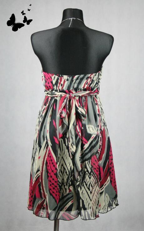 Různobarevné koktejlkové společenské šaty vel 42, 42