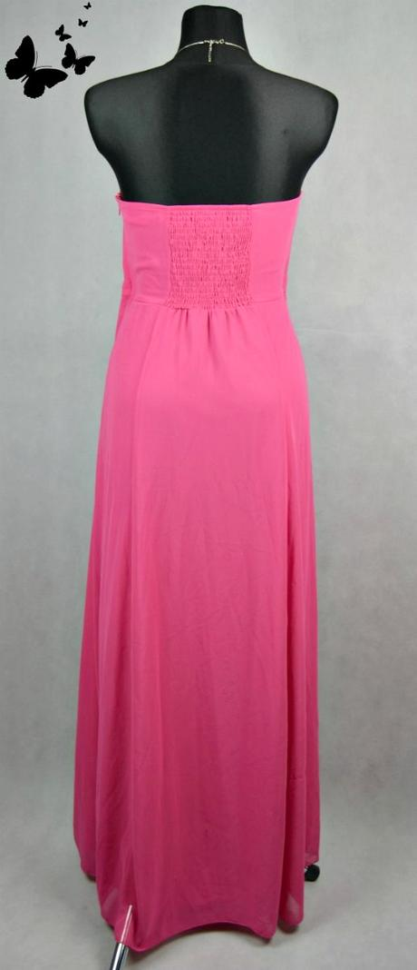 Růžové GEORGE společenské šaty s kytičkou vel 44, 44