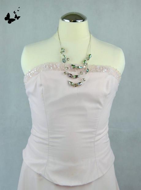 Růžové šaty dlouhé vel 36, 36