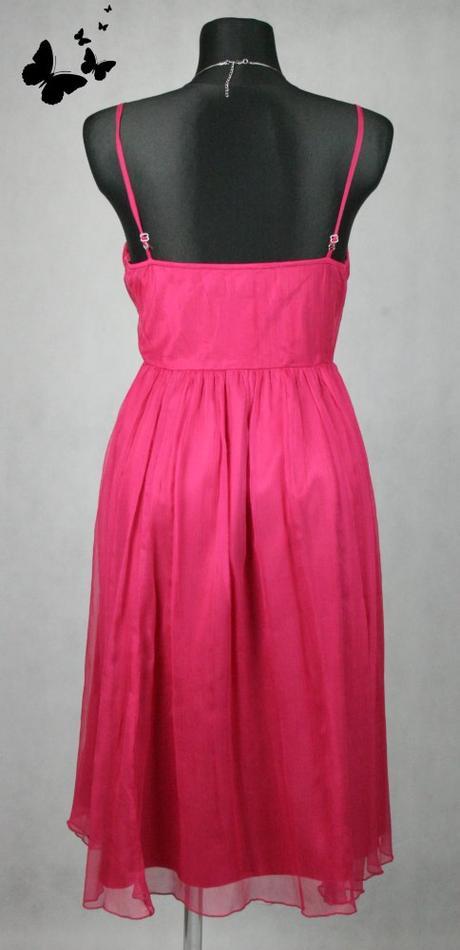 Růžové šaty na ramínka vel 42, 42