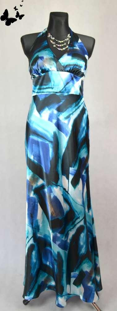 Saténové dlouhé šaty vel 40, 40