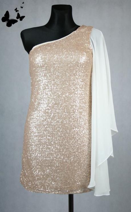 South bílé šaty na jedno rameno vel 38, 38