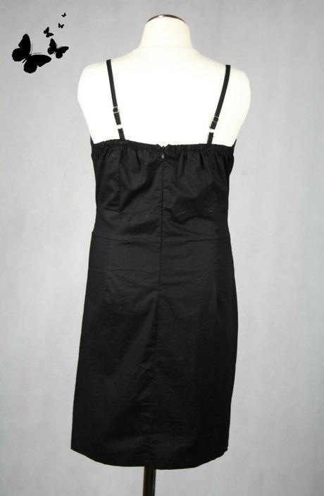 Společenské černé šaty vel 36-38, 36