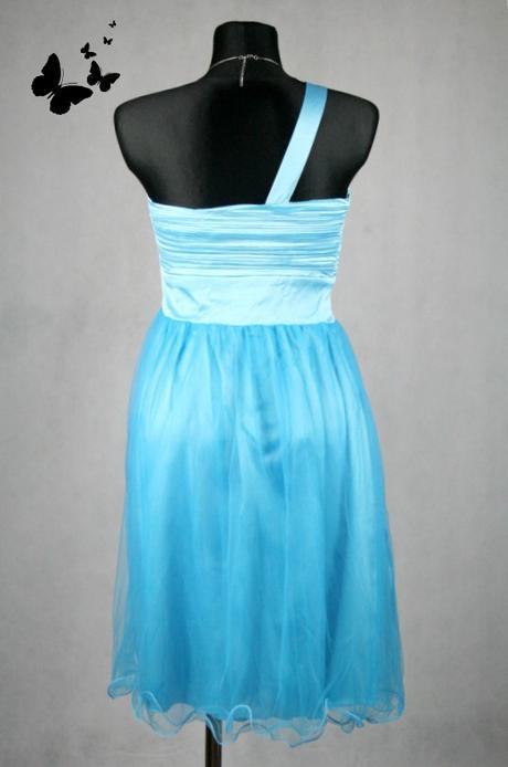 Společenské koktejlové modré šaty vel 48-50, 48