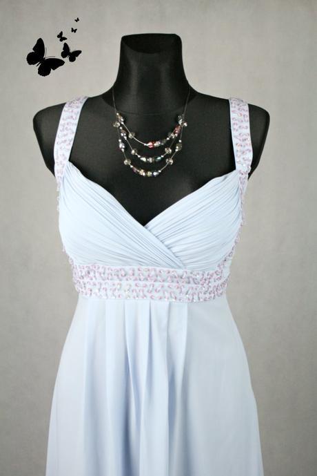 Společenské modro-fialové šaty Donna Bella vel 40, 40