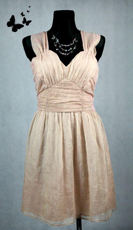 Společenské šaty hnědé vel 48, 48