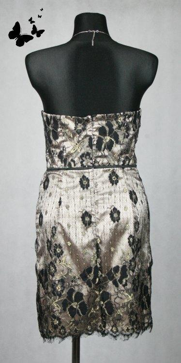 Společenské šaty s krajkou černo-zlaté vel 40, 40