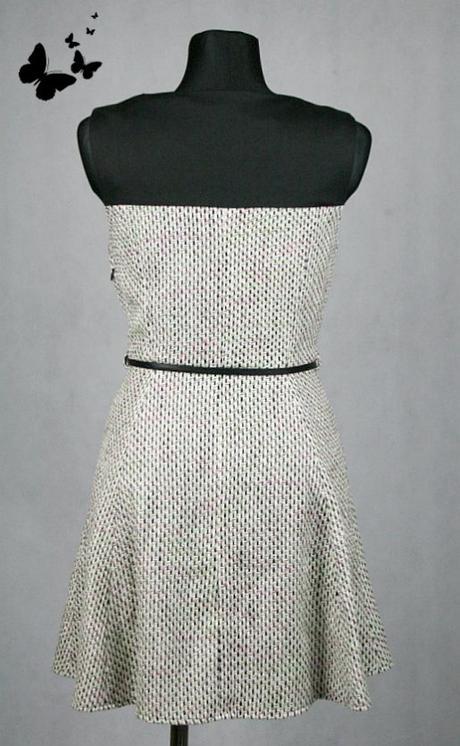 Společenské žíhané šaty vel 42, 42