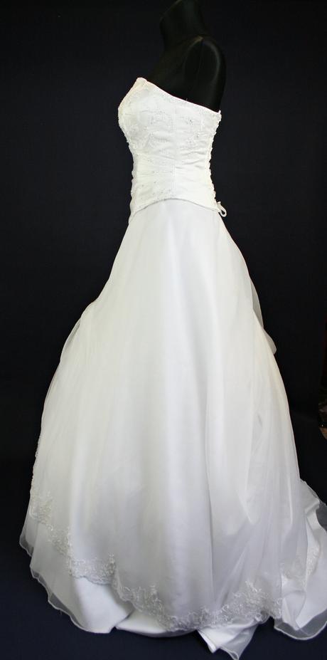 Svatební korzetové dvoudílné šaty vel 38,