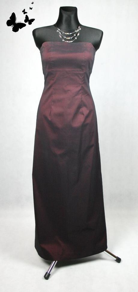 Tmavě červené lesklé společenské šaty vel 36-38, 36