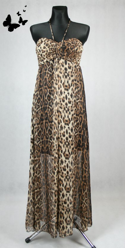 Tygrované dlouhé šaty QED LONDON vel M, 40
