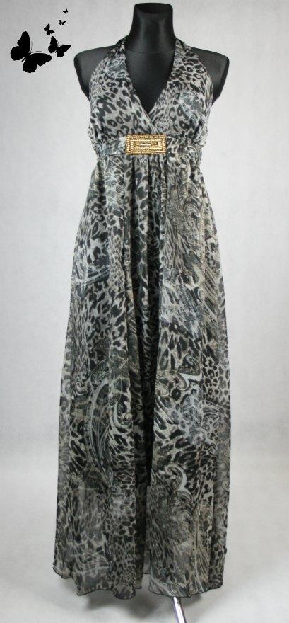 Tygrované dlouhé šaty vel  42-44, 44