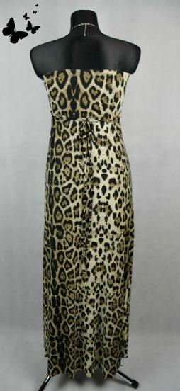 Tygrované maxi šaty AX paris vel 38-40, 38