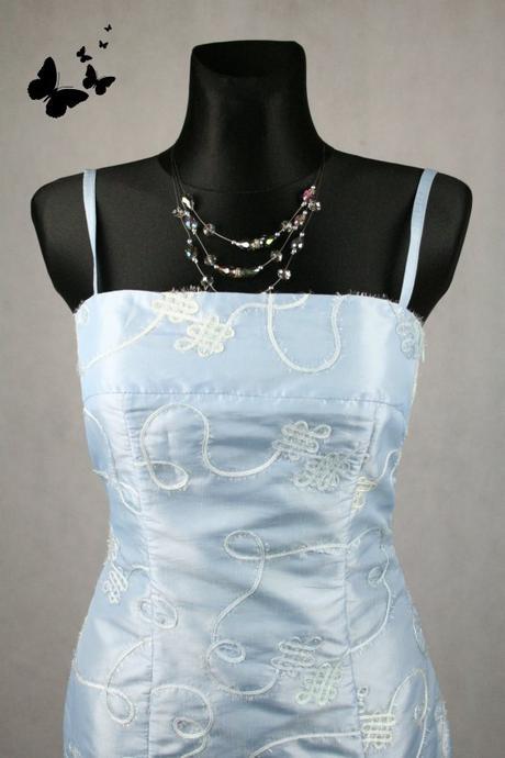 Tyrkysové plesové šaty na ramínka vel 38, 38