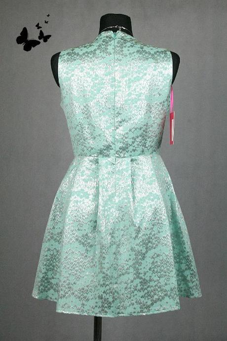 Tyrkysové společenské šaty vel 44, 44