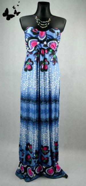 veselé letní maxi šaty vel 40, 40