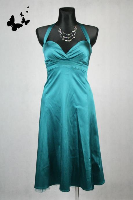 Zelené koktejlové šaty Warehouse vel 38, 38