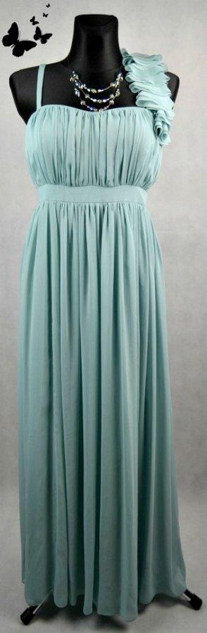 Zelenkavé slavnostní šaty vel 44, 44