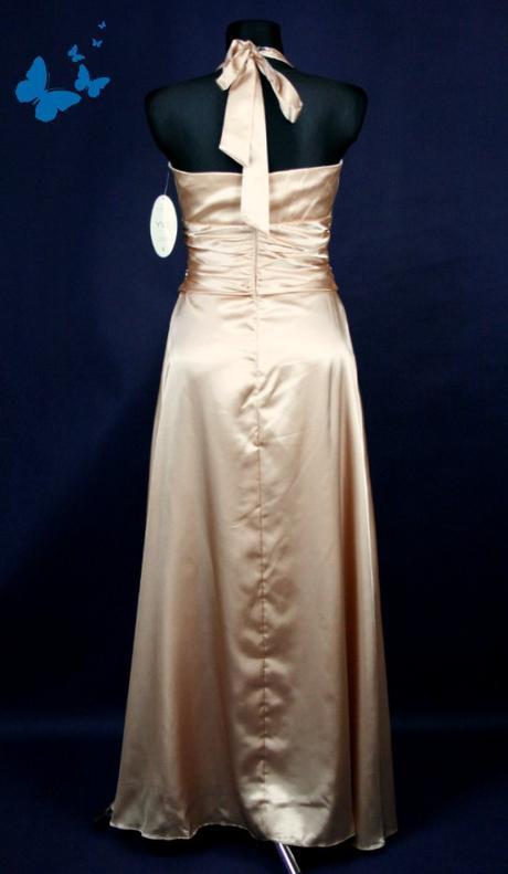 Zlaté společenské plesové šaty vel 38, 38