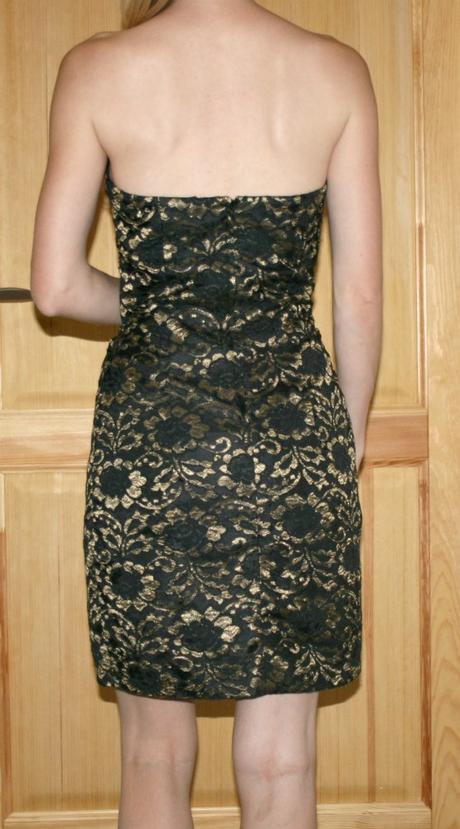 Zlaté společenské šaty vel 40, 40