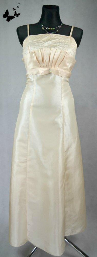 Zlaté společenské šaty vel 44-46, 44