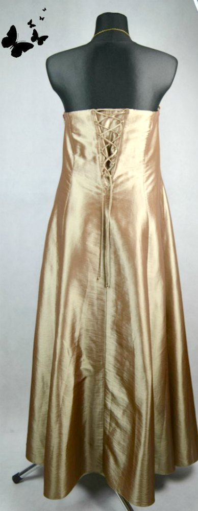 Zlato-hnědé společenské šaty vel 44, 44