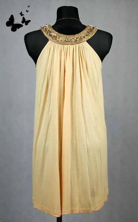 Žluté volné šaty v řeckém stylu 36-40, 38