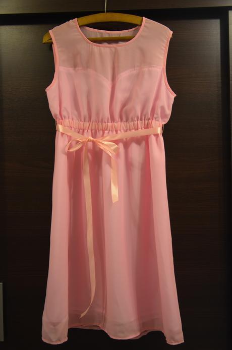 Růžové šaty pro družičky, L