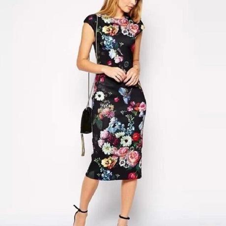 Kvietkované šaty Floral nenosené, 40
