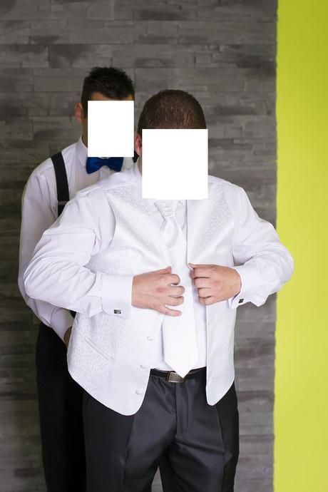 Svadobná vesta + kravata + vreckovka, 56