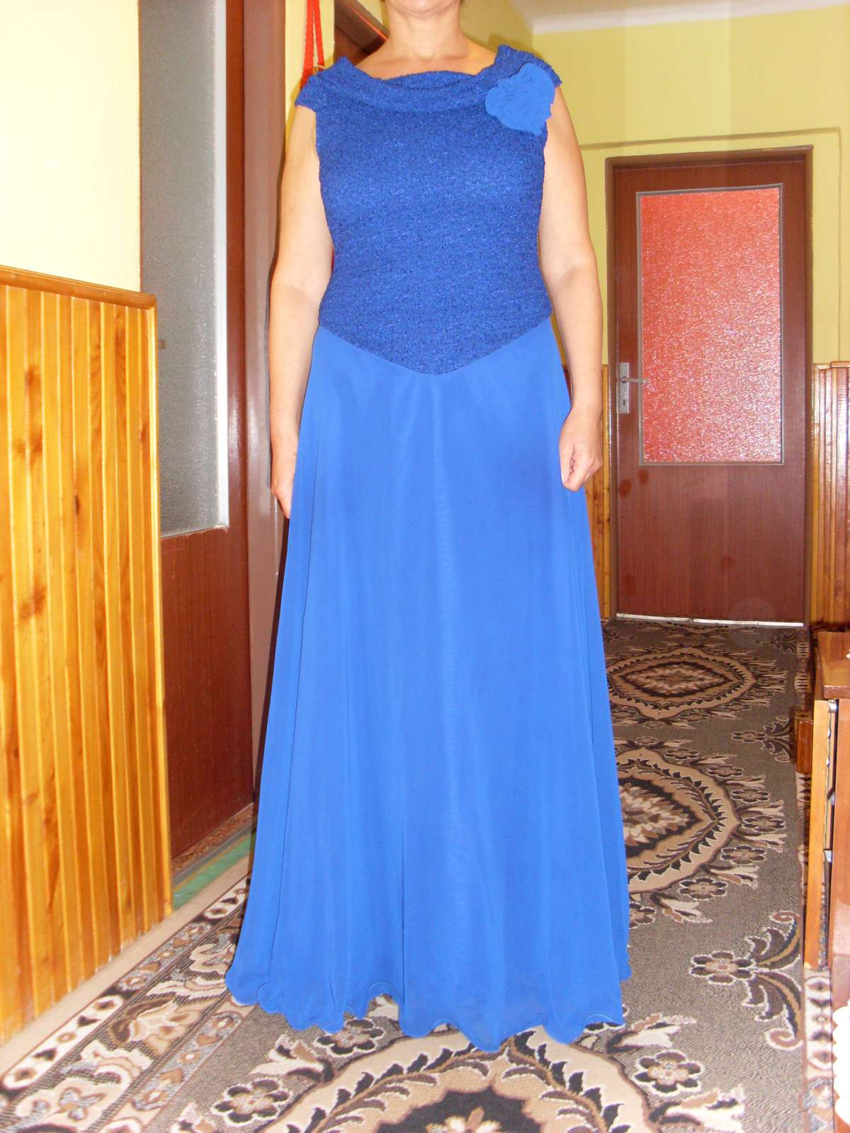 Tmavo-modré spoločenské šaty-znížená cena 459e7eb60e6