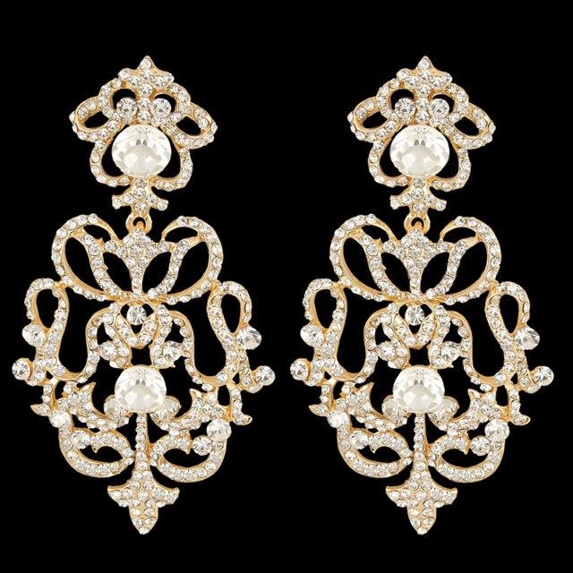 Spoločenské chandelier krištáľové náušnice c1275a180a4