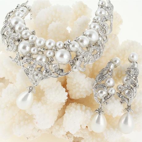 Glamour perličkový set - strieborný aj zlatý,