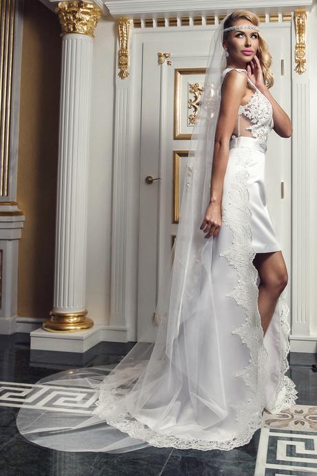 Hladký svadobný závoj E1,