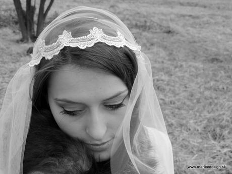 Juliet cap - vintage svadobný závoj,