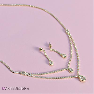 Krištáľový set náhrdelník a náušnice ,