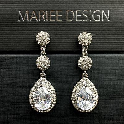 Luxusné zirkónové svadobné náušnice,