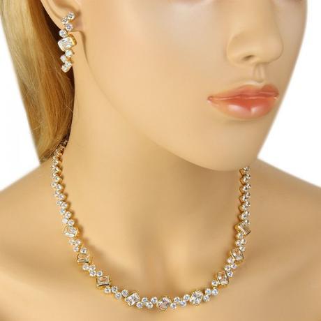 Luxusný set náhrdelník a náušnice ,