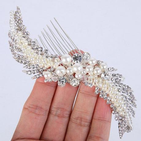 Luxusný svadobný hrebienok do vlasov ,