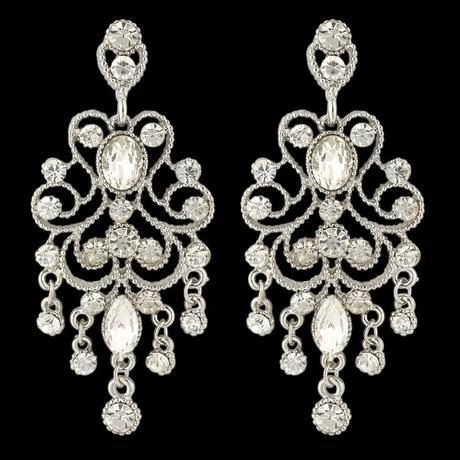 Spoločenské chandelier krištáľové náušnice,