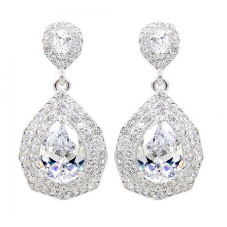 Svadobný/spoločenský náhrdelník a náušnice ,