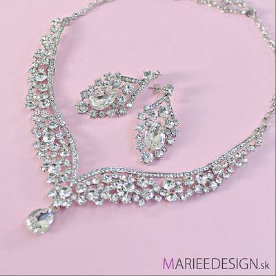 Svadobný/spoločenský náhrdelník a náušnice,
