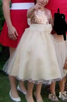 Princeznovské detské šaty, 140