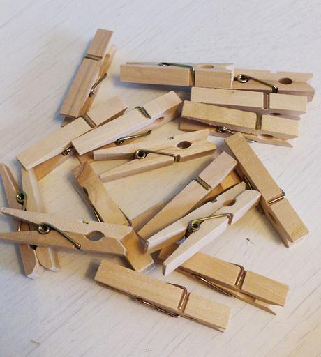 Sada rustic dřevěných dekorací + kolíčky,
