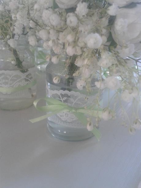 čipkované vázy,