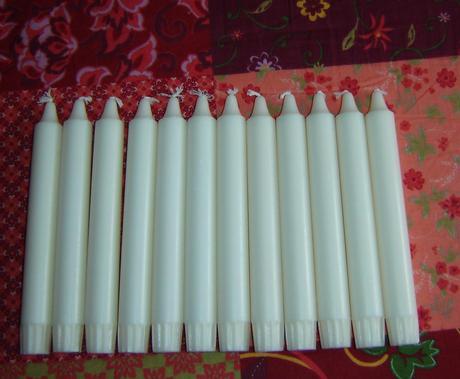 kónické sviečky,