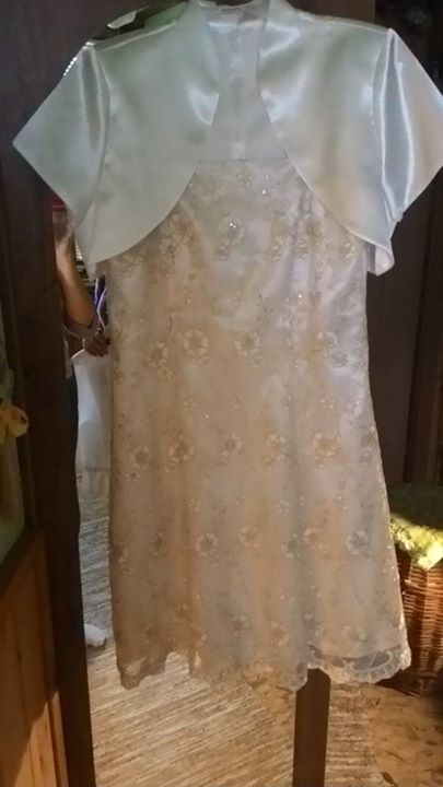 nádherné šaty+bolerko z kvalitnej krajky, 42