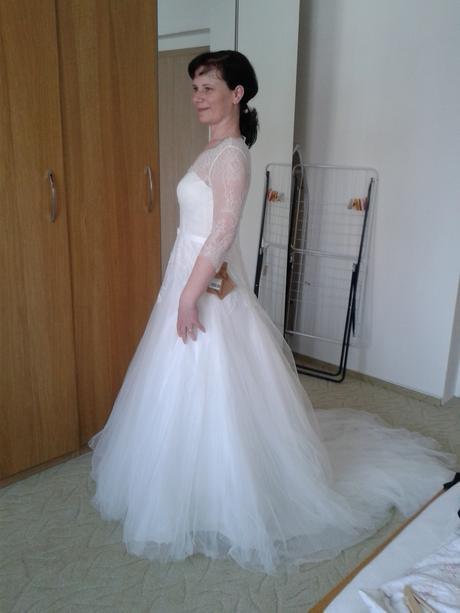 Svatební šaty vel.  XL, 40