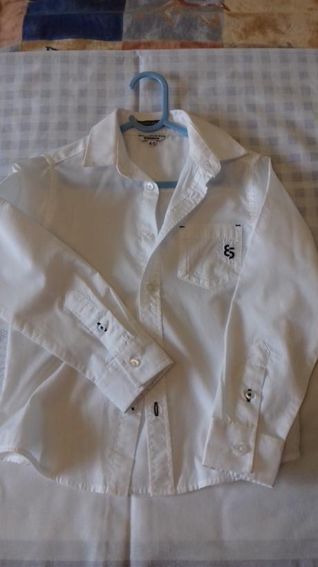 Svadobná biela košeľa s dlhým rukávom , 110