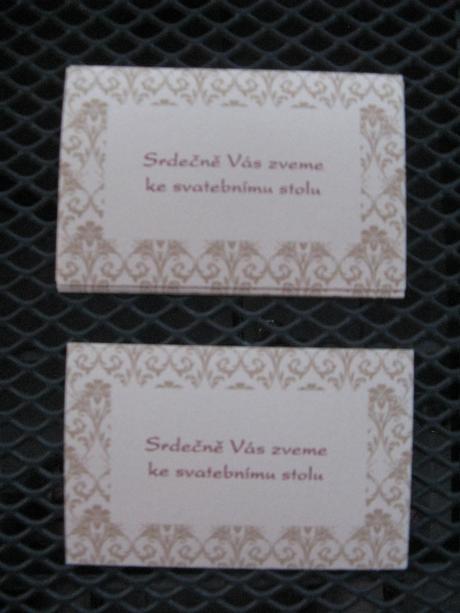 Šampaň pozvánky ke svatebnímu stolu - 4 ks,